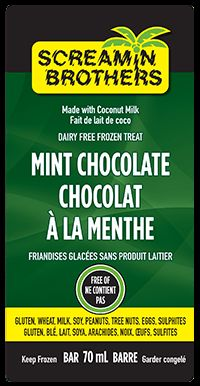 Mint Chocolate Bar - a crowd favorite that everyone can enjoy! #DairyFree #GlutenFree #CoconutMilk #ScreaminBrothers