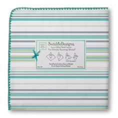 SwaddleDesigns Jewel Tone Stripes Ultimate Receiving Blanket, Turquoise SwaddleDesigns http://smile.amazon.com/dp/B007P5J1VW/ref=cm_sw_r_pi_dp_BHV0tb0WZ1CY12G1