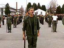 Stripes-----army training sir!
