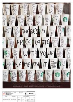 Starbucks 'names' by AMV BBDO. Starbucks latest TV ad that uses animation and a friendly Liverpudlian voiceover to inspire its customers to introduce themselves to their barista.