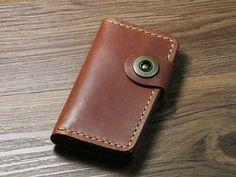 handmade mens leather key walletleather key casekey holder