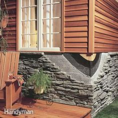 Good collocation: wood and artificial stone