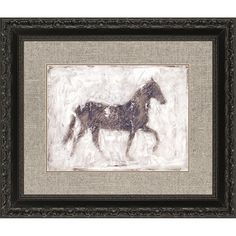 Equine Silhouette I, Framed Art transitional-mixed-media-art