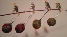 Christmas balls, space-like, rock-like
