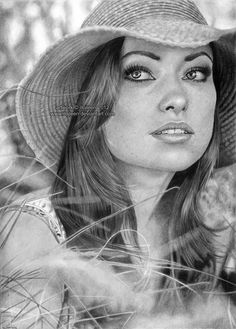 Olivia Wilde - 50 Excellent Examples of Portrait Drawing  <3 <3