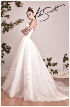 Wedding dress from the Austin Scarlett Fall 2016 Collection.