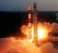 India successfully launches navigational satellite IRNSS-1B.