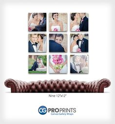 One of my favorites - also good for large family sessions to highlight smaller family groupings.  Canvas Gallery Wrap Groupings. Professional Photographer Inspiration.