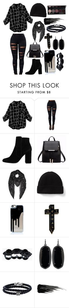 """Demon Hunting"" by soundlessfob ❤ liked on Polyvore featuring MANGO, Yves Saint Laurent, NoHours, Dsquared2, Kendra Scott, Phillip Gavriel and Urban Decay"