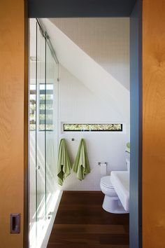 bathroom in small three story  home in Lake Travis, Texas | designed by Andersson-Wise Architects