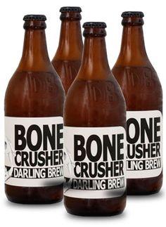 DARLING BREW BONECRUSHER #CraftBeer #DarlingBrew Craft Beer, Beer Bottle, Liquor, Brewing, Drinks, Crafts, Clock, Drinking, Watch