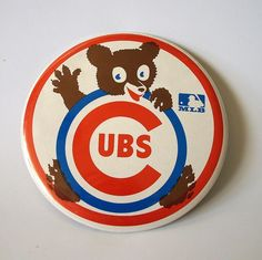 In honor of the World Series, explore vintage Cubs memorabilia and take a gander at the evolution of the Chicago Cubs logo design. Chicago Cubs Fans, Chicago Cubs Baseball, Football, Cubs Win, Go Cubs Go, Cubbies, Logo Design, Baseball Cards, Buttons