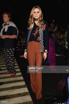Fotografia de notícias : Olivia Palermo attends the Max Mara show during...