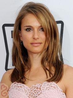 Natalie Portman Beauty Tips Dark Brown Hair With Caramel Highlights Blonde