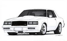 1986 Buick Grand National Drawing by Vertualissimo on DeviantArt Car Drawing Pencil, Cool Car Drawings, Buick Grand National, Automobile, Cars Coloring Pages, Buick Regal, Buick Riviera, Truck Art, Chevrolet Chevelle