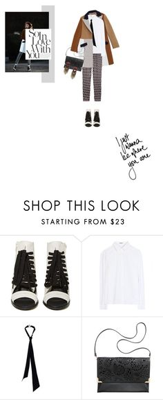 """Untitled #1175"" by talita-roberto ❤ liked on Polyvore featuring Shoe Cult, Acne Studios, Yves Saint Laurent and H&M"