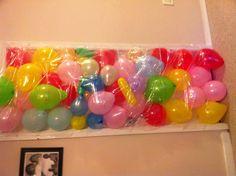 birthday ideaa, birthday surprises, john bday, balloon avalanch, birthdays, morn balloon, 18th birthday surprise, birthday morning, kid