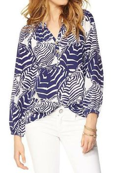 Lilly Pulitzer Elsa Top in Oh Cabana Boy