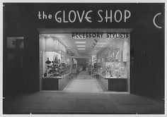 The Glove Shop, business at 260 Fulton Ave., Hempstead, Long Island, New York. Exterior