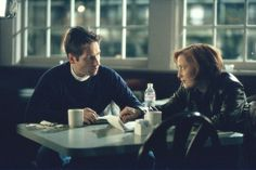 """David Duchovny, left, and Gillian Anderson as Mulder and Scully in a scene from """"The X-Files."""" (Carin Baer / Fox)"""