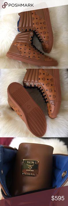 MCM men high top sneakers NWT.....size 12 men....$495 merc@ri MCM Shoes