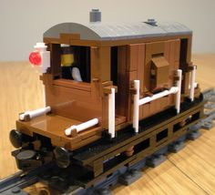 Brake van with hidden motor Boy Toys, Toys For Boys, Lego Trains, Lego Modular, Train Engines, Rolling Stock, Lego Projects, Lego Ideas, Lego Creations