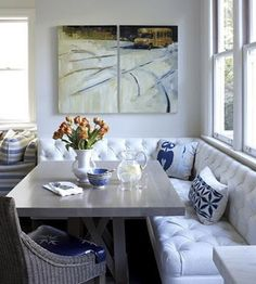 Banquette Benches Are Back! #kitchen #dining #design