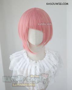 [ Kasou Wig ] Shingeki no Bahamut Virgin Soul Nina Drango pink bob cosplay wig