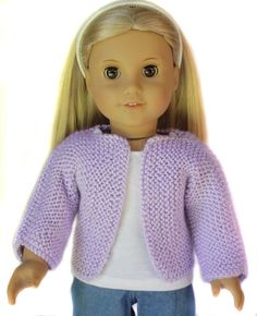 Beginner Knit Sweater for 18 inch Dolls