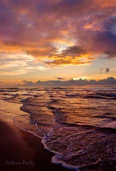 Sunrise on Cape Hatteras, North Carolina.