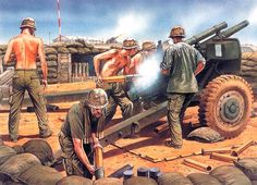 M101A1  105mm gun pit in an FSB (Nam)