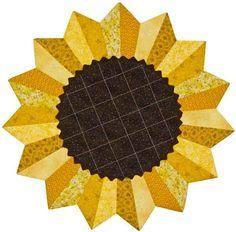 sunflower quilt block patterns free - Google Search
