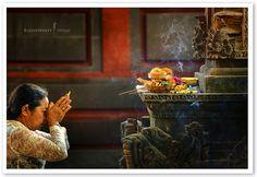 Morning Prayer, Ubud, Bali