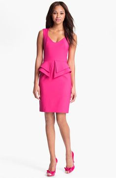 Black Halo Pink Valentina' Peplum Sheath Short Cocktail Dress Size 4 (S) Pretty Dresses, Beautiful Dresses, Sheath Dress, Peplum Dress, Pink Fashion, Fashion Outfits, Luxury Fashion, Rosa Style, Mode Rose