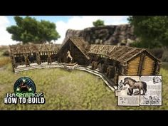 This is my take on an equus stable with a small area to breed equus's in, this is the first of many builds that I will be doing on various creatures in ark. Ark Survival Evolved Bases, Conan Exiles, Minecraft, Videogames, Blue Prints, Manualidades, Pictures, Christmas Mason Jars, Dinosaurs