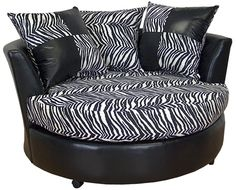 Zebra Print Chaise Lounge Circle Looks comfy! My New Room, My Room, Girl Room, Zebra Print Bedroom, Zebra Bedding, Animal Print Furniture, Zebra Decor, High Point Furniture, Safari