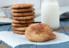 These cookies are the best.grain free and loaded with protein:) The Urban Poser:: Snickerdoodle Cookies (Egg/Grain/Gluten/Dairy Free) Gluten Free Sweets, Paleo Sweets, Gluten Free Baking, Paleo Dessert, Vegan Desserts, Dessert Recipes, Almond Flour Cookies, Almond Flour Recipes, Paleo Cookies