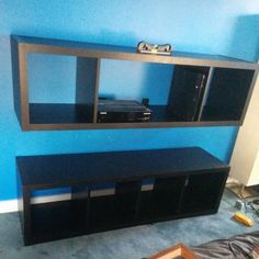 Kallax on pinterest ikea ikea hackers and bye bye for Floating entertainment center ikea