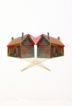 Hagar Vardimon-van Heummen Happy red fish - thread art and design