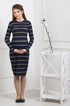 0d0113c0d6f0 Abito prémaman - Paola - vestito maternità - maniche lunghe - Nothing But  Love - Blu nero con stampa - Taglia 42