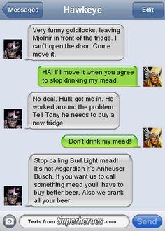 Texts From Superheroes - Thor vs Hawkeye