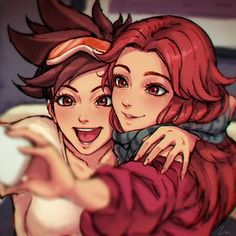 Emily x Tracer (Overwatch)