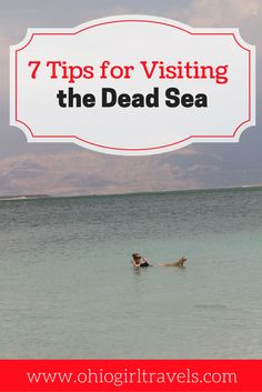 Who hasn't dreamed of floating in the Dead Sea? Click through to learn 7 tips to make the best of your visit to the Dead Sea including what to expect, cost, and much more. Don't forget to save this to your travel board!  Guide to the Dead Sea | Dead Sea, Israel |