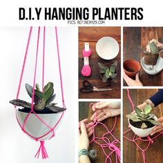 diy hanging planter | DIY hanging planters by Kim Paige