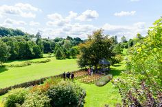 View of the Brue valley and licensed oak gazebo from the Longhouse, eco wedding venue.    Photo by Greg Thurtle