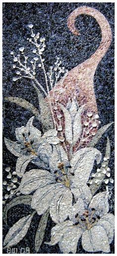 Valentina Sheitanova. Unbelievably this is a shell mosaic.