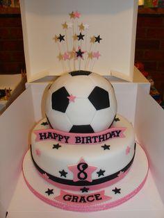 Girly Football Cake xMCx