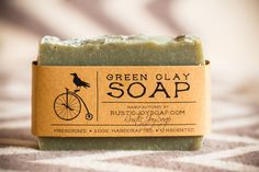Green Clay Soap- Аcne Soap,All Natural Soap,Handmade Soap,Acne Soap, Green Clay Soap,anti-cellulite soap,Spa Soap,Unscented Soap.