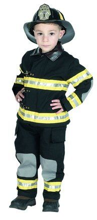 Kids Fireman Halloween Costume. A fireman Halloween costume is a popular choice for young boys. Boys love to imitate heroes like firemen. This is one of the most authentic looking kids fireman Halloween costumes.