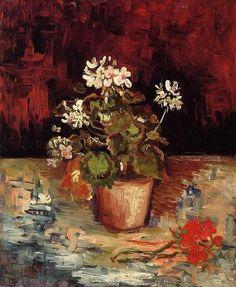 Vincent van Gogh, Geranium in a Flowerpot, 1886. on ArtStack #vincent-van-gogh #art